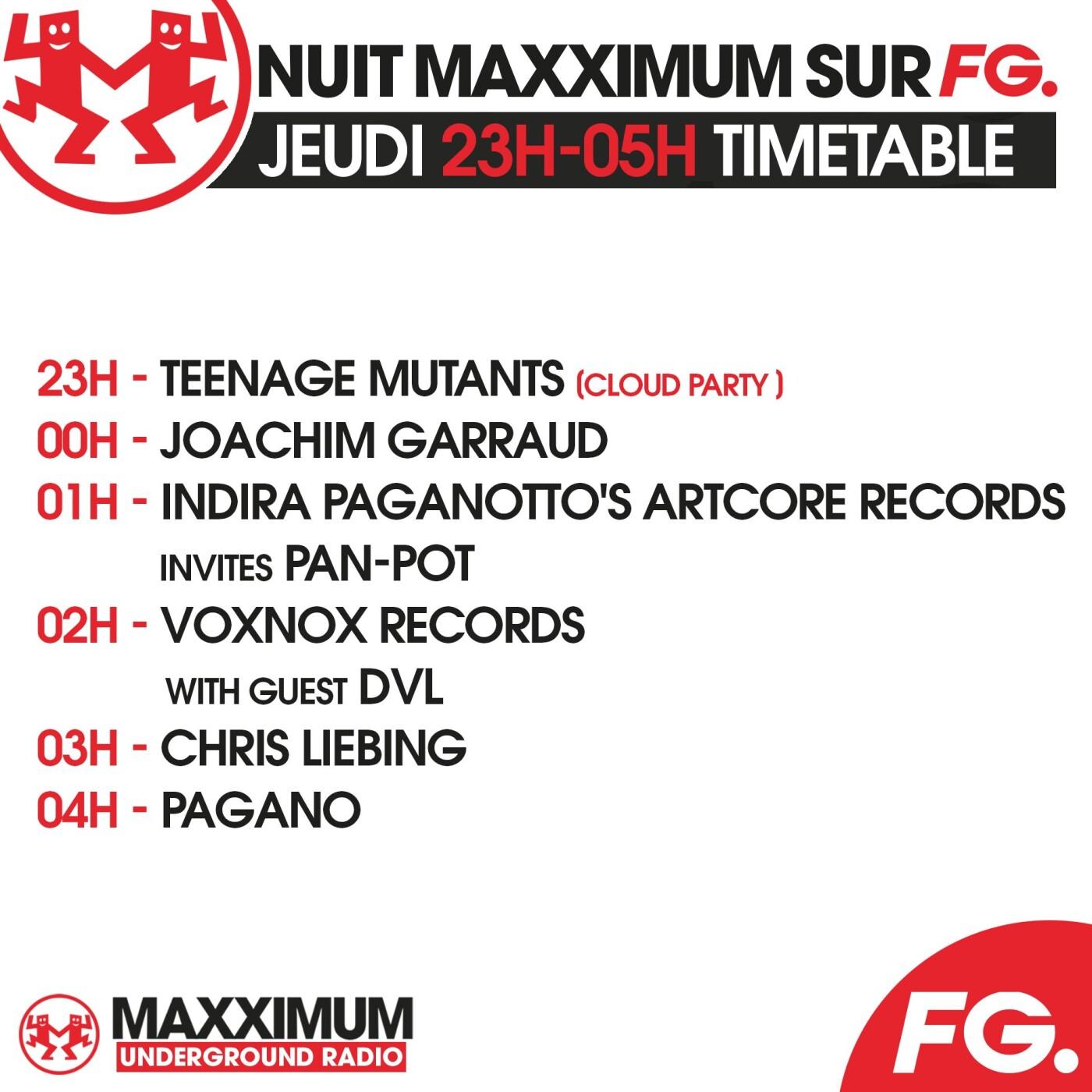 LA NUIT MAXXIMUM SUR FG : TEENAGE MUTANTS