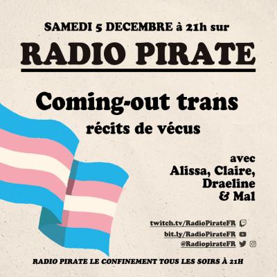 Radio Pirate - Coming-out trans, récits de vécus - Emission du samedi 5 décembre cover