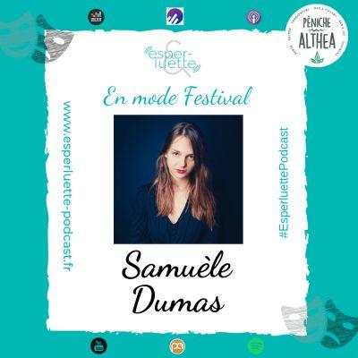 """image """"En mode Festival"""" - Samuèle Dumas - La régie plateau de My Land au Chêne Noir"""