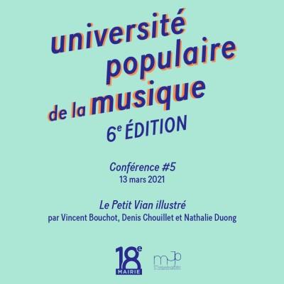 #5 - université populaire de la musique - Le Petit Vian illustré cover