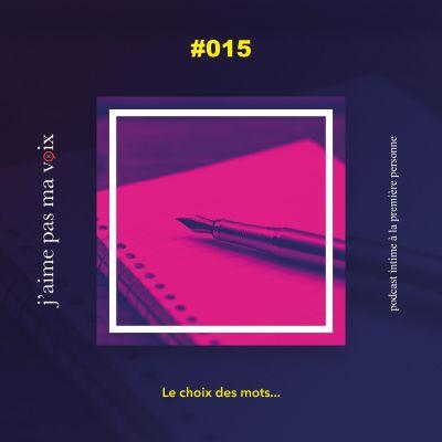 #015 - Le choix des mots... cover