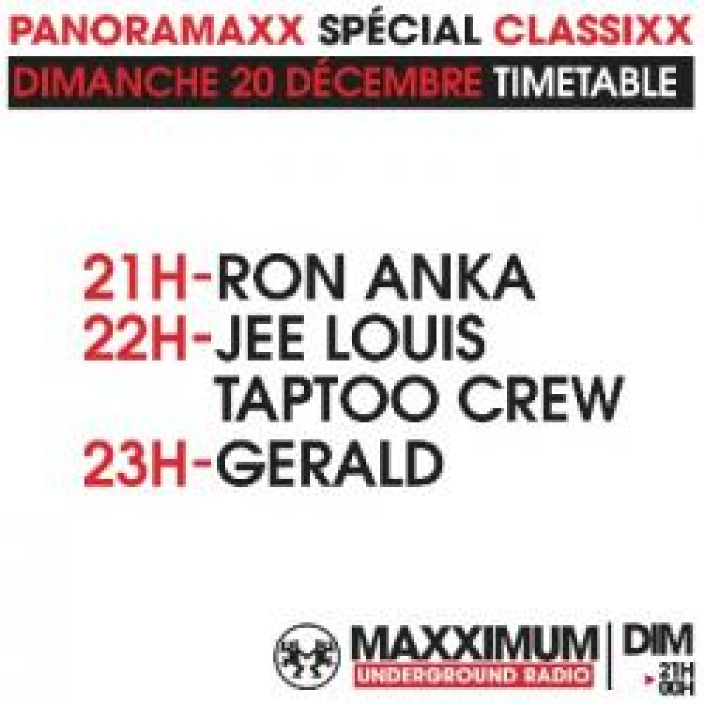 PANORAMAXX CLASSIXX : JEE LOUIS TAPTOO CREW